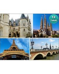Barcelona - Avignon – Montpellier – Carcassone – Bordeaux – Paris Turu